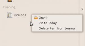 """Le clic droit permet d'ouvrir, supprimer ou """"marquer"""" un fichier"""