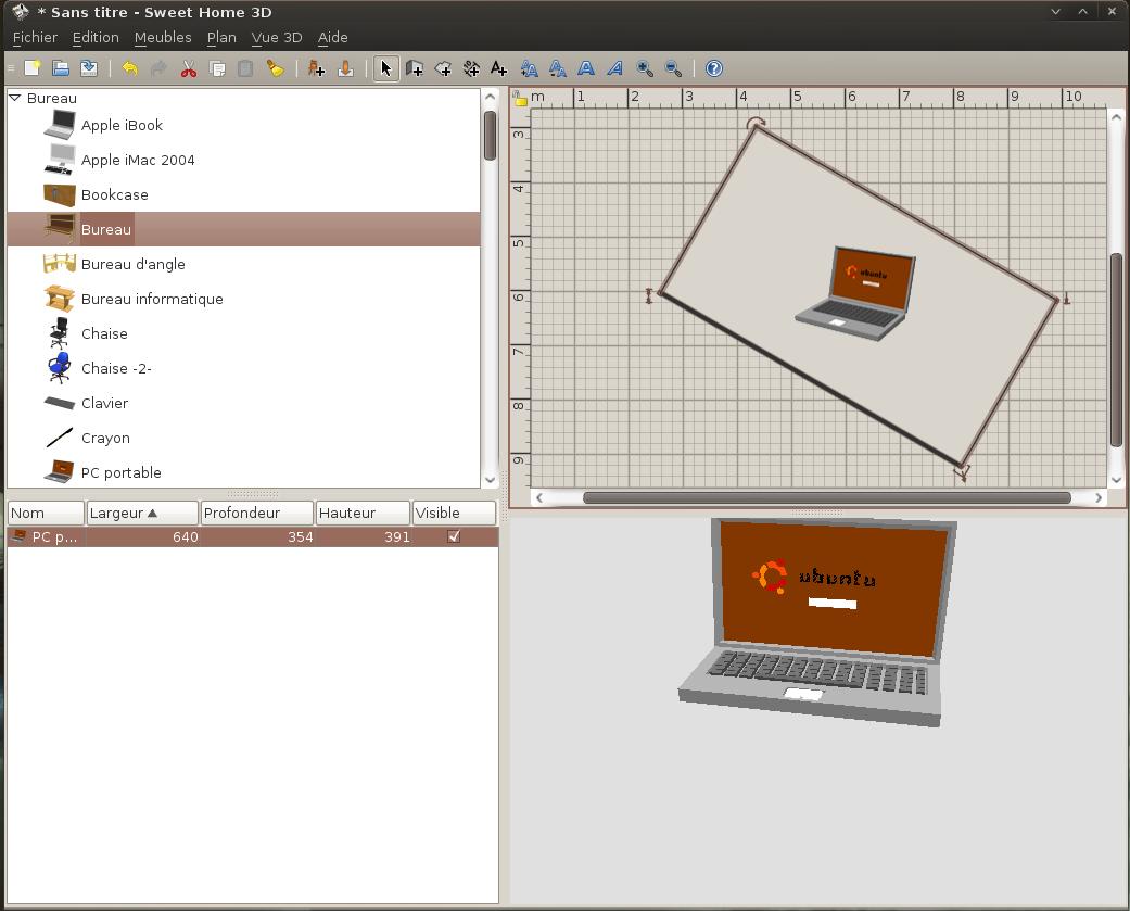 plan maison ubuntu